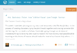 The WP Reader 'Like' button