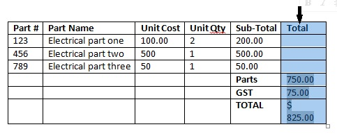 auto fit column 1