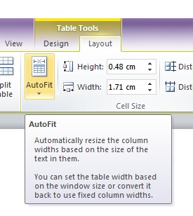auto fit column 2