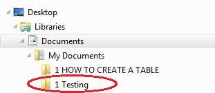 saving to 1 testing