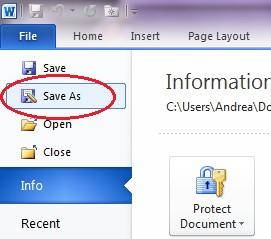 where is Save As