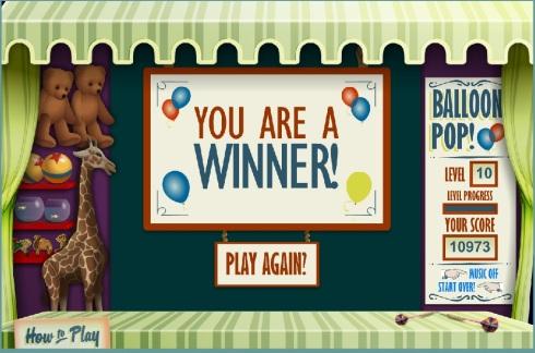 balloon game winner