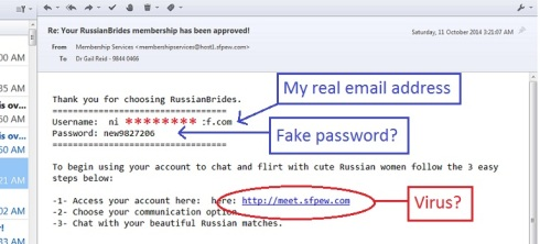 phishing russian brides