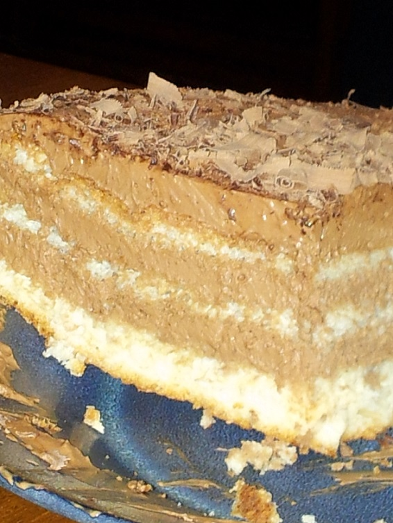 A closeup of the layers