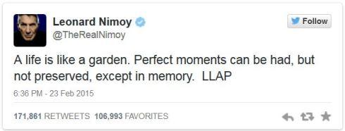 leonard Nimoy last tweet
