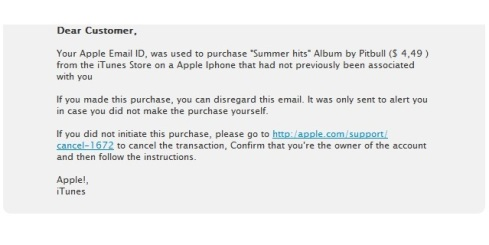 SCAM apple itunes