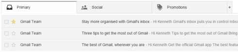 gmail read and starred