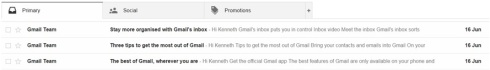 gmail the middle bit