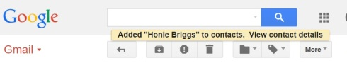 3 save contact honie briggs confirmation