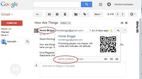 3 save contact honie briggs