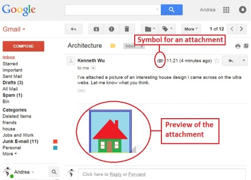 gmail attachment received 1