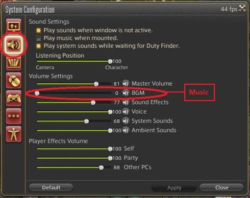 ffxiv system sound music