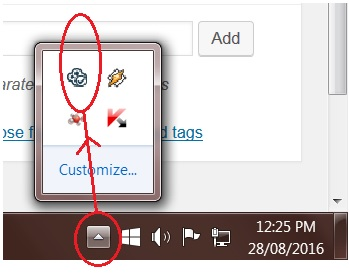 sync taskbar icon