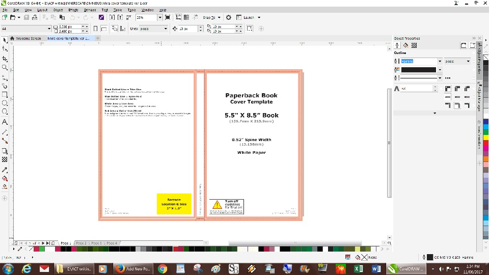 Createspace Cover Template | Using The Createspace Cover Template With Corel X8 Tikh Tokh Medium